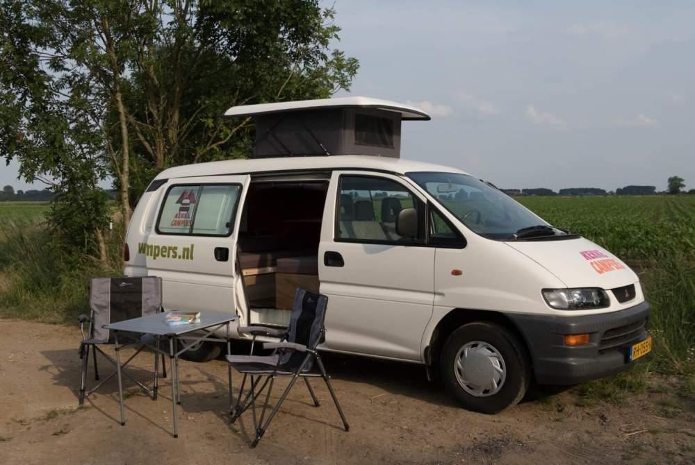Kampeerbus Mitsubishi Berg in Utrecht huren van particulier
