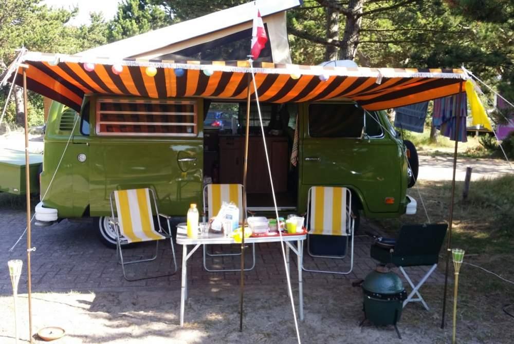 Kampeerbus Volkswagen Green Westy in Leiden huren van particulier