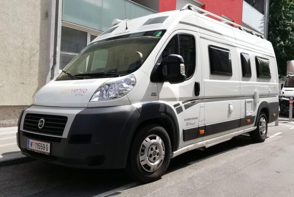 Buscamper Karmann Gianluca in Wien huren van particulier