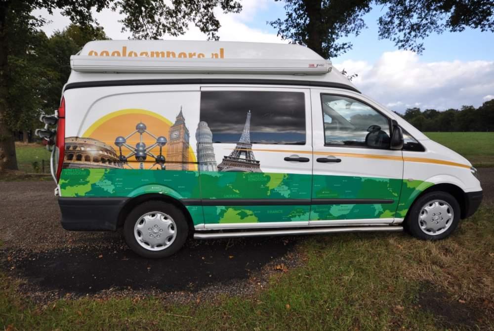 Buscamper Mercedes Coole camper type 3 in Amersfoort huren van particulier