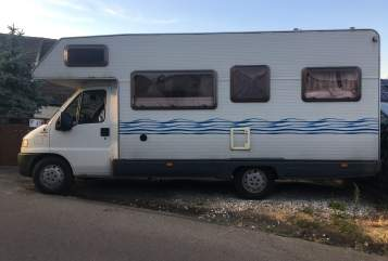 Alkoof Fiat Rollerteam Arnis Wohnmobil in Lossatal huren van particulier