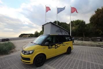 Kampeerbus Volkswagen Bulli SeasideHolidays in Grömitz huren van particulier