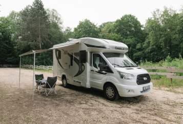 Halfintegraal Chausson Wohnmobil, Basis Ford 170 PS Automatik Womo Bella in Neu-Ulm huren van particulier