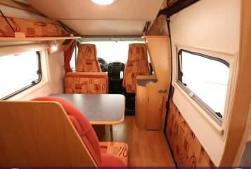Buscamper Fiat Ducato Meine Rote Zora in Ellerbek huren van particulier