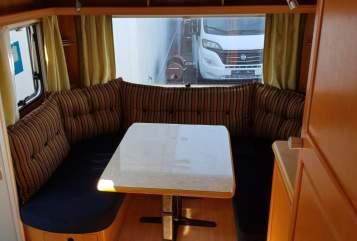 Caravan Tabbert  TABBI in Albersdorf huren van particulier