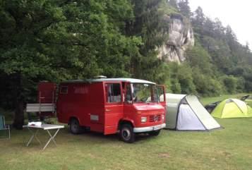 Buscamper Mercedes Benz Molekül in Neusitz huren van particulier