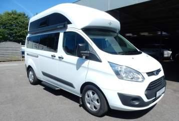 Kampeerbus Ford Nugget Plus in Volkertshausen huren van particulier