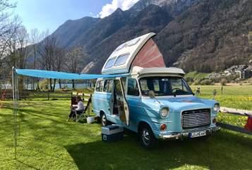 Kampeerbus Ford Transit mk1 Wölkchen in Schopfheim huren van particulier