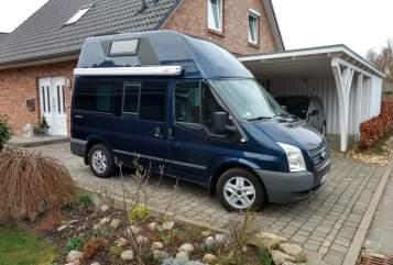 Kampeerbus Ford Nuggi in Bad Schwartau huren van particulier