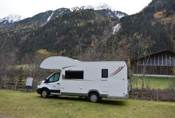 Alkoof Roller Team Kronos 295 Silvies Camper in Passau huren van particulier