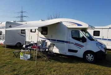 Halfintegraal Ahorn Camp AllinCamper 690 in Hünxe huren van particulier