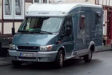 Halfintegraal Ford Hymer Nina in Bad Sooden-Allendorf huren van particulier