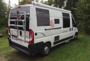 Buscamper Globecar Thebo in Kiel huren van particulier