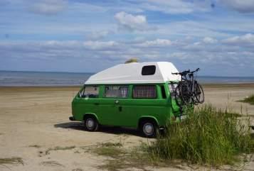 Kampeerbus VW T3 Frosch in Brackel huren van particulier