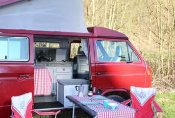 Kampeerbus VW Horst in Elz huren van particulier