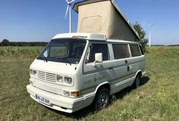 Kampeerbus VW T3 Club Joker Clyde in Wandlitz huren van particulier