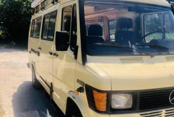 Buscamper Mercedes Benz Diesellotte  in Versmold huren van particulier