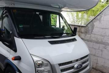 Alkoof Ford Wohnmobil Hobby in Kiel huren van particulier