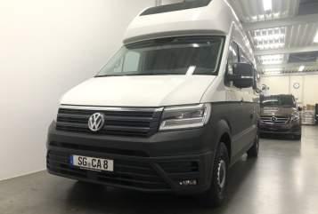 Buscamper Volkswagen Hey Camper. neu in Solingen huren van particulier