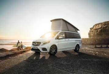 Kampeerbus Mercedes-Benz Pioneer SH/NI in Heidmoor huren van particulier