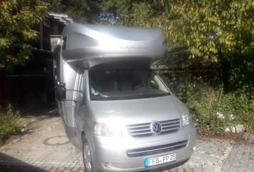 Alkoof vw bus T5 Mein Camper in Grafrath huren van particulier