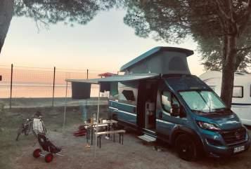 Buscamper Hymer, Fiat Ducato Knut in München huren van particulier