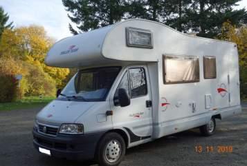 Alkoof Fiat Trigano Trigano Diesel 85 kw Axel in Goslar huren van particulier