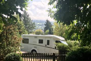 Halfintegraal Dethleffs Advantage Camper in Schotten huren van particulier