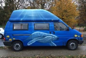 Kampeerbus VW Der blaue Wal in Hannover huren van particulier