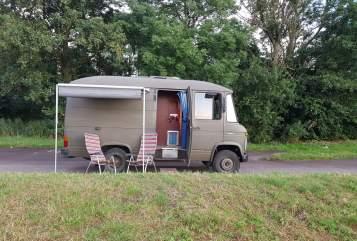 Buscamper Mercedes Groene Gast in Baambrugge huren van particulier