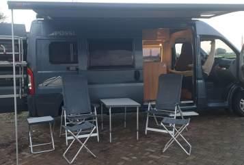 Buscamper Een (k ei van Colom)bus Fiat Possl ColumBus in Brummen huren van particulier