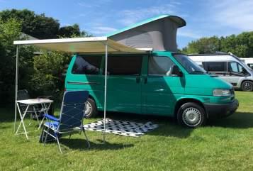 Kampeerbus Volkswagen Groene Joker in Haarlem huren van particulier