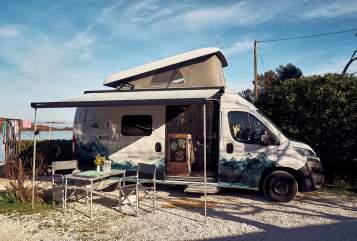 Buscamper Hymercar Traveler in Hamburg huren van particulier