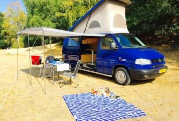 Kampeerbus Volkswagen VW T4 2.5 TDI in Zeist huren van particulier