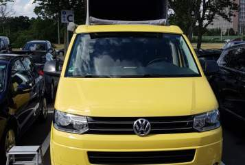 Kampeerbus Volkswagen Bienchen in Wolfsburg huren van particulier