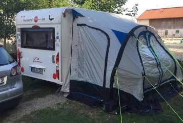 Caravan Bürstner ts 435 Camper Ebi in Weilburg huren van particulier
