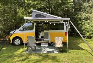 Buscamper VW Transporter XL VW Camper bus  in Loosdrecht huren van particulier