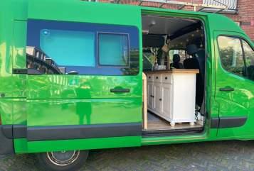Buscamper Renault  Kermit in Utrecht huren van particulier