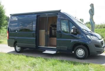 Buscamper Pössel  Unser Reisewagen in Gudensberg huren van particulier