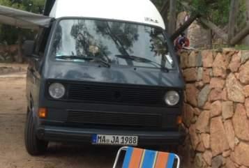 Kampeerbus VW T3  Maja in Mannheim huren van particulier