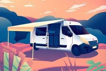 Buscamper Renault Master dutch traveller in Harderwijk huren van particulier