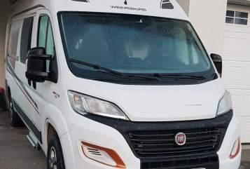 Buscamper Fiat  Möwe in Horgenzell huren van particulier