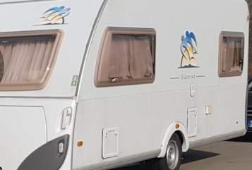 Caravan Knaus Südwind Lieselotte für Motorradurlaub in Sinsheim huren van particulier