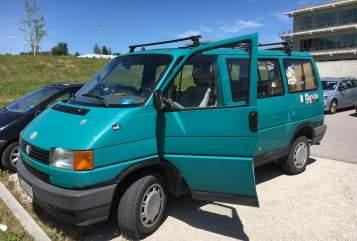 Kampeerbus Volkswagen Sir Egbert in Freising huren van particulier