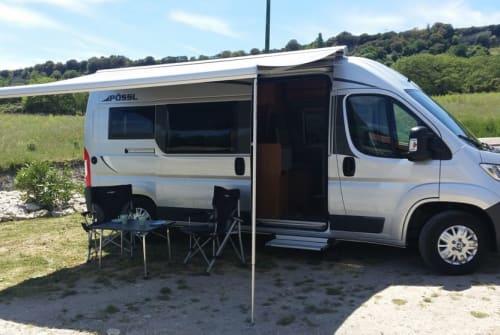 Buscamper Pössl  La Vespa in Bulzi huren van particulier