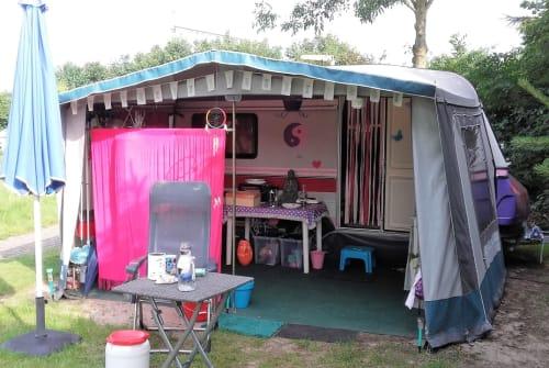Caravan Hobby Tante Keet in Zwolle huren van particulier