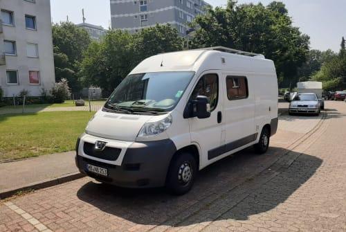 Buscamper Peugeot Boxer 2014 Woodi in Bremen huren van particulier