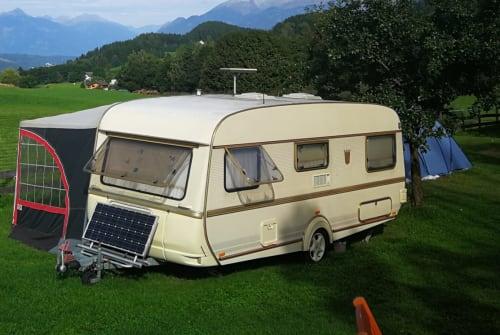 Caravan Tabbert Dicke Berta  in Hof bei Salzburg huren van particulier