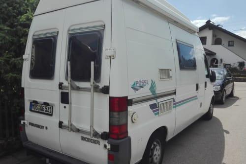 Buscamper Peugeot J5 Pössele+Ebikes in Vilgertshofen huren van particulier