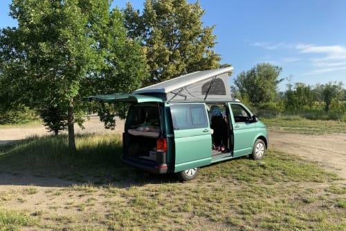 Kampeerbus VW Grüni  in München huren van particulier